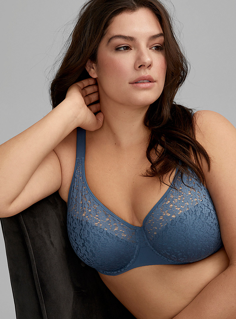 Chantelle Blue Norah plunge bra Plus size for women