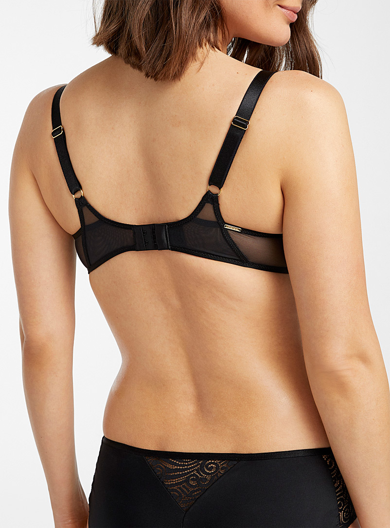 Chantelle Black Pyramid balconette bra for women
