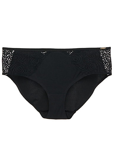 Pyramid arabesque lace hipster