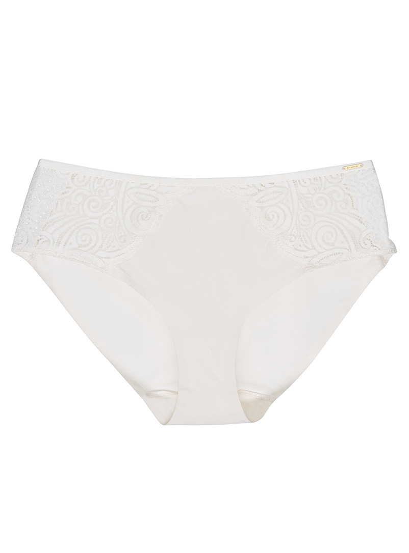 Pyramid arabesque lace hipster - Hipsters - Cream Beige