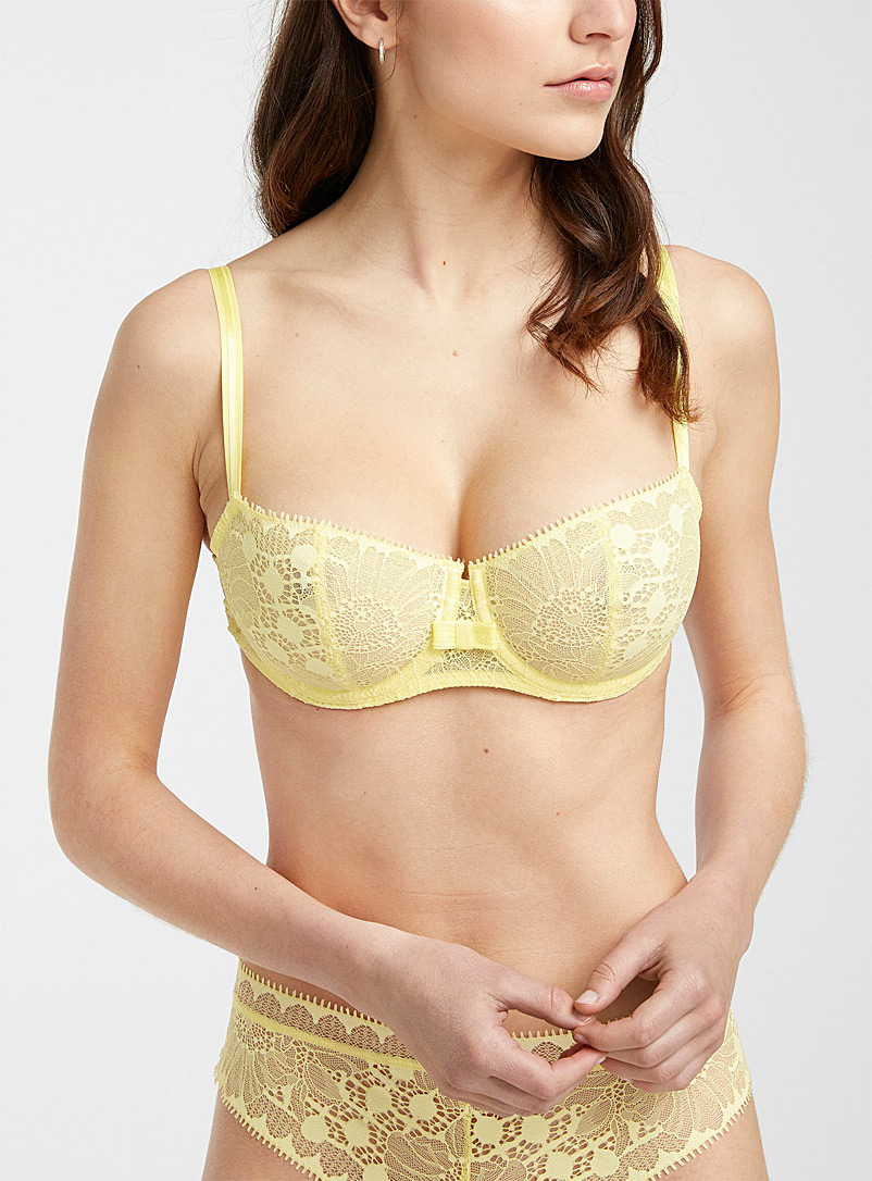 Chantelle Golden Yellow Day To Night balconette for women