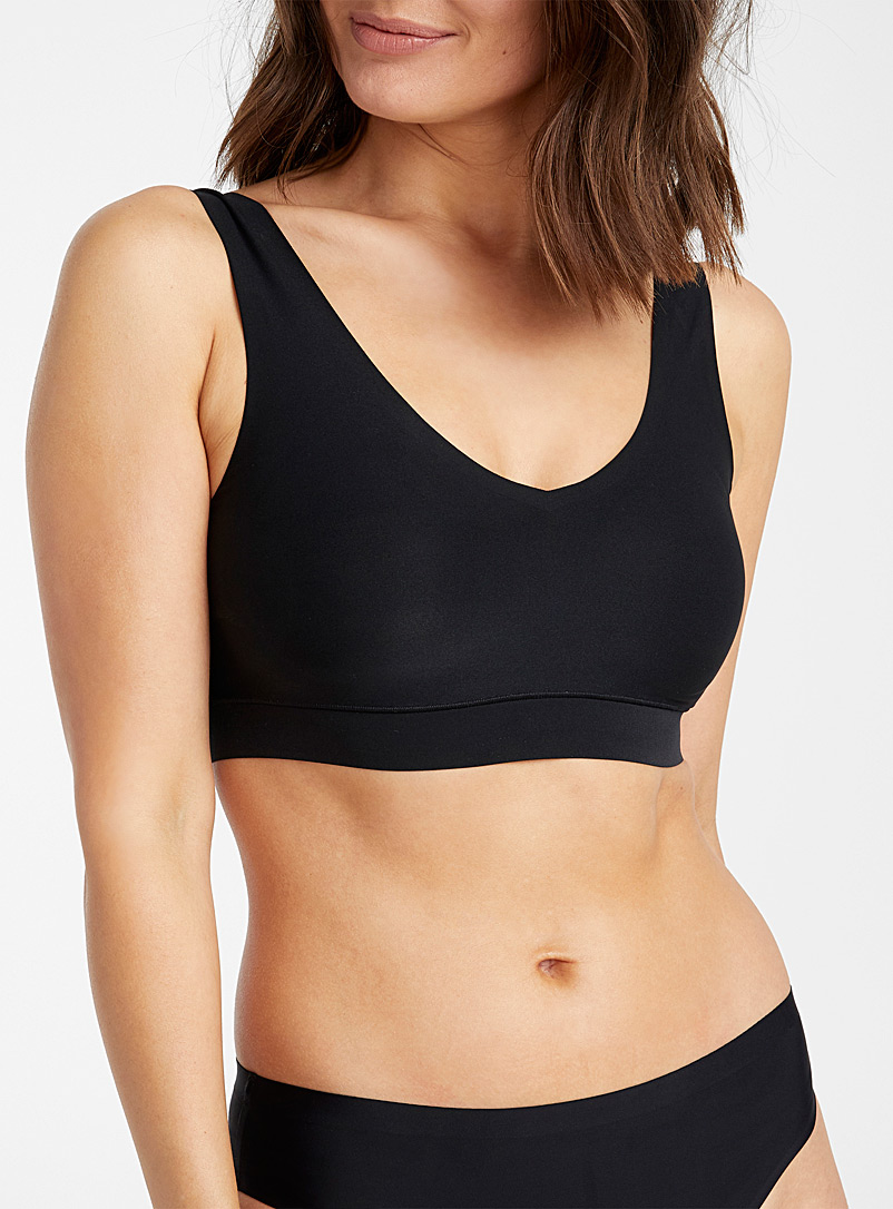 Chantelle Black Soft Stretch wireless bra for women