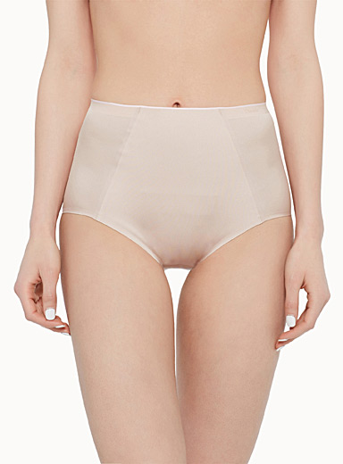 Pink trim high-rise support panty