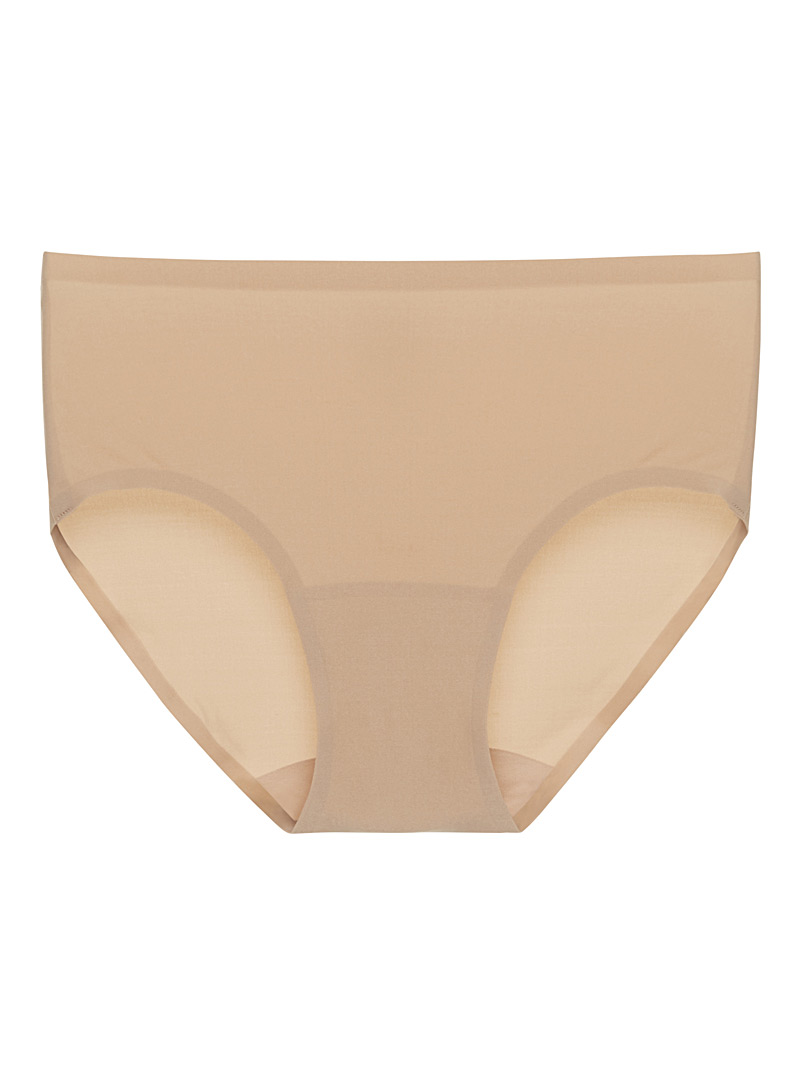 Chantelle Tan Minimalist silky hipster for women