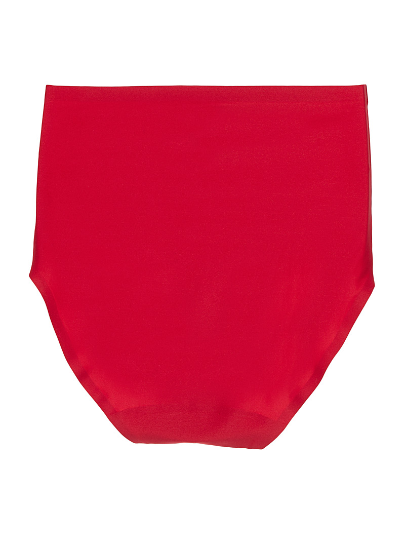Silky high-rise panty - High waist - Red
