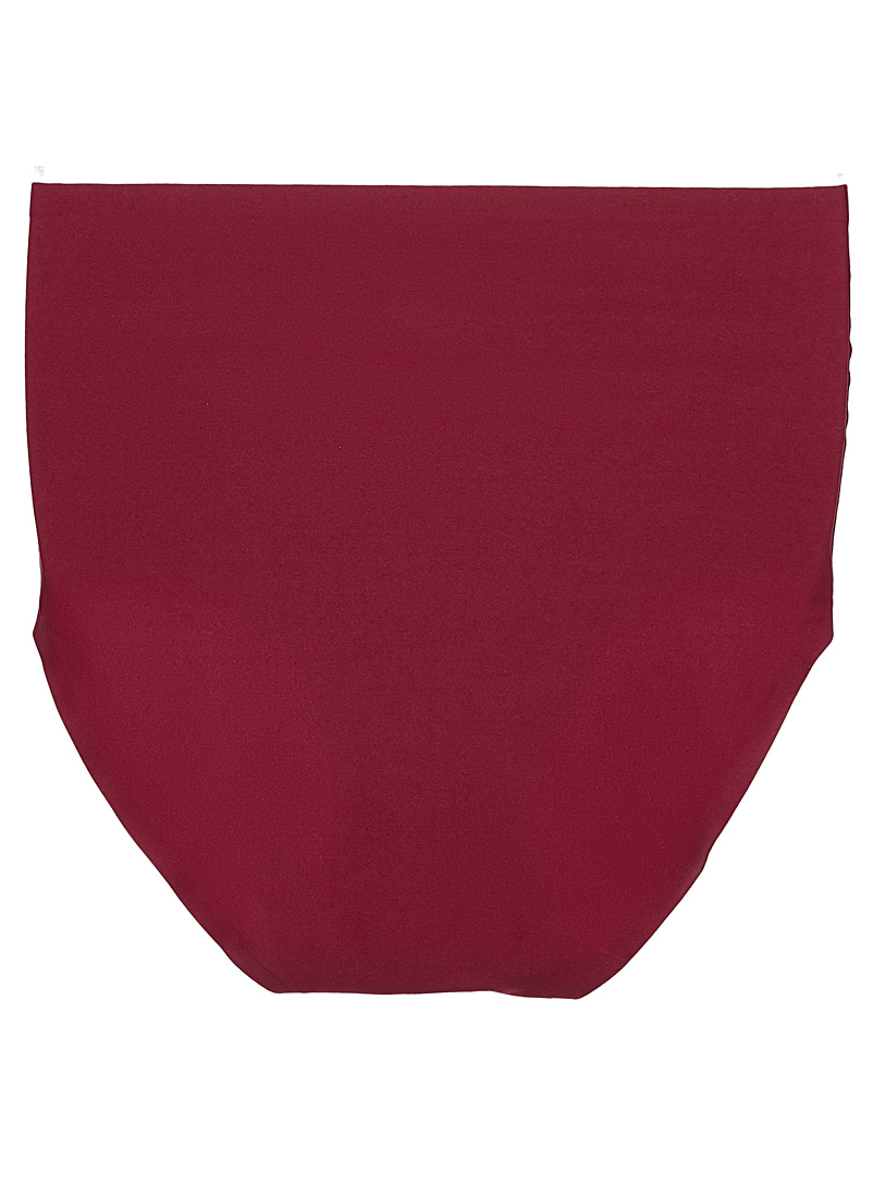 Silky high-rise panty - High waist - Cherry Red