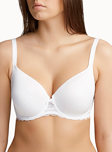 Mosaic jacquard full-coverage bra