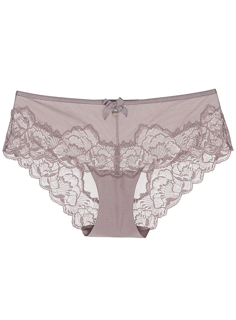 Orangerie taupe lace hipster - Hipsters - Grey