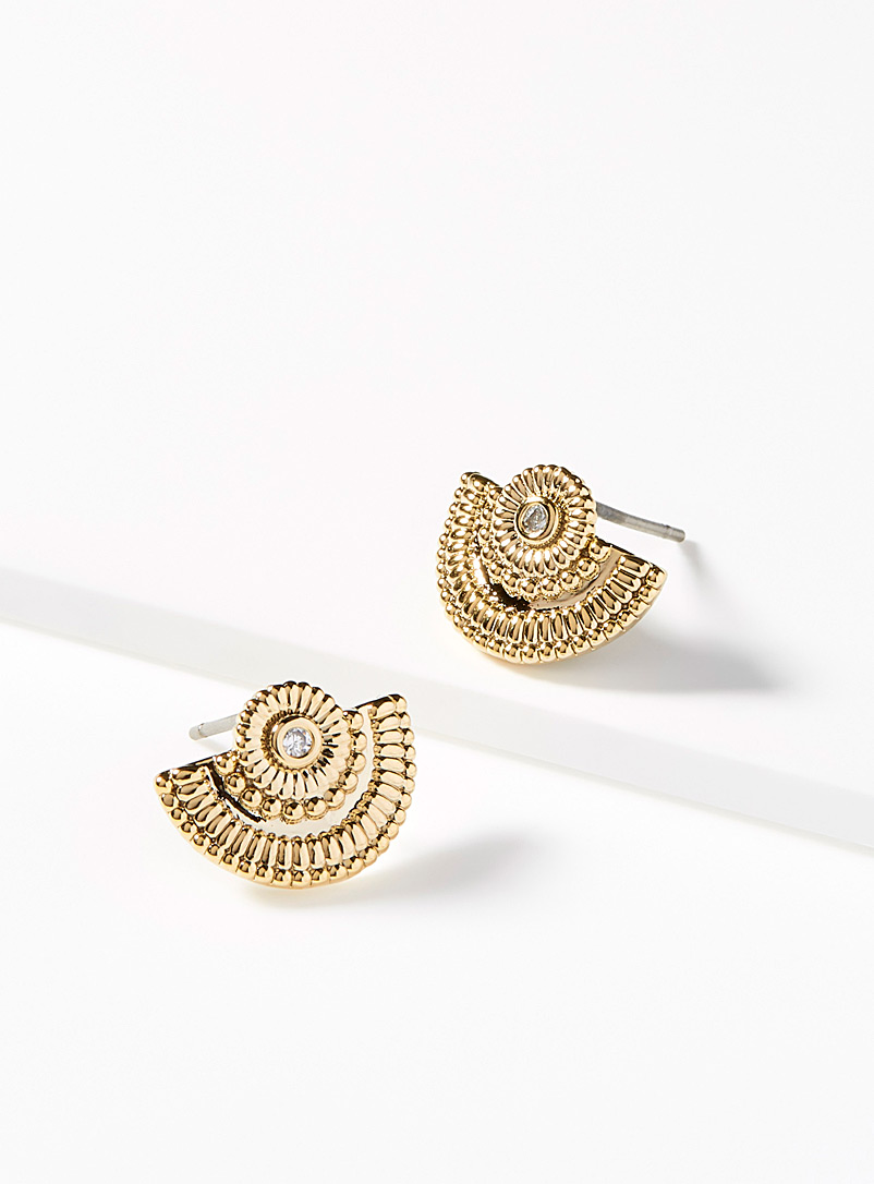 Detailed domed earrings - Earrings - Assorted