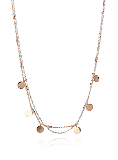 Mini medal chain necklace