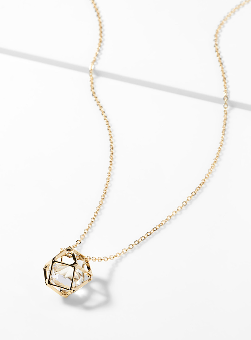 Crystal prism necklace - Necklaces - Golden Yellow