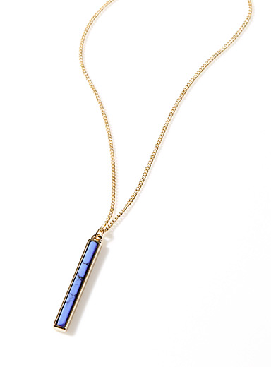 Colourful bar necklace