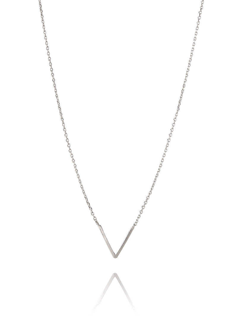 V chain necklace - Necklaces - Silver