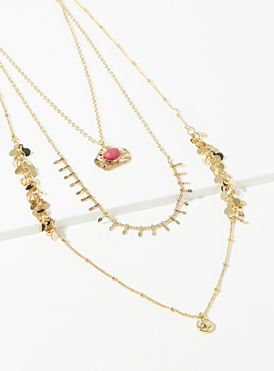Gold flecked necklace