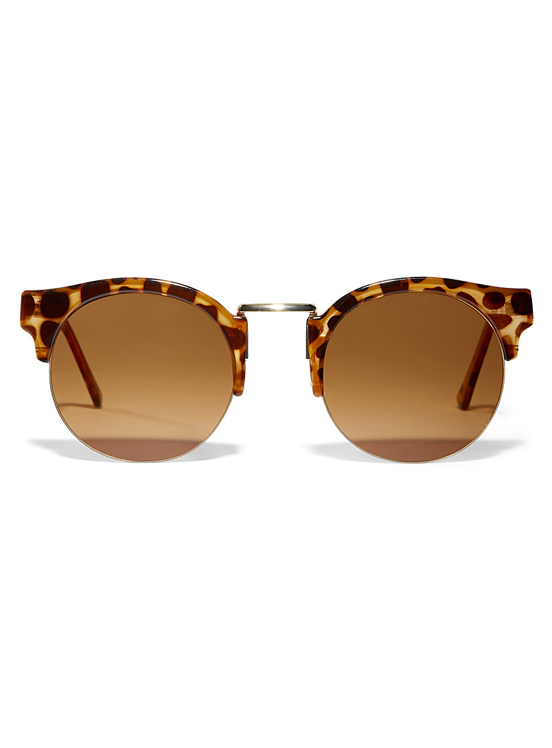 Simons Light Brown Arcade cat-eye sunglasses for women