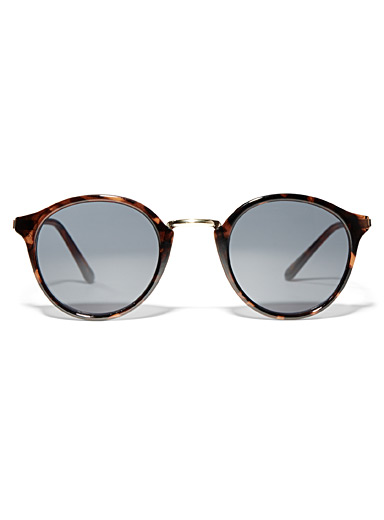 Simons Light Brown Vintage round sunglasses for women