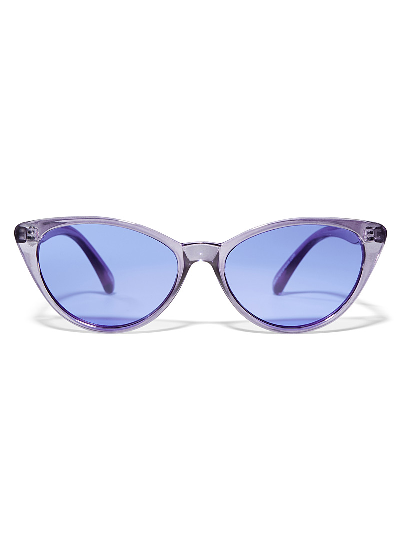 Simons Purple Retro cat-eye sunglasses for women