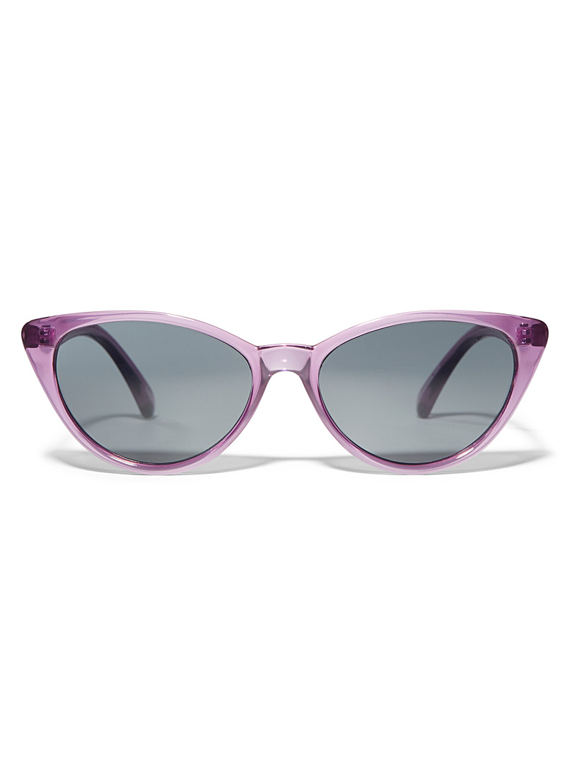 Simons Black Retro cat-eye sunglasses for women