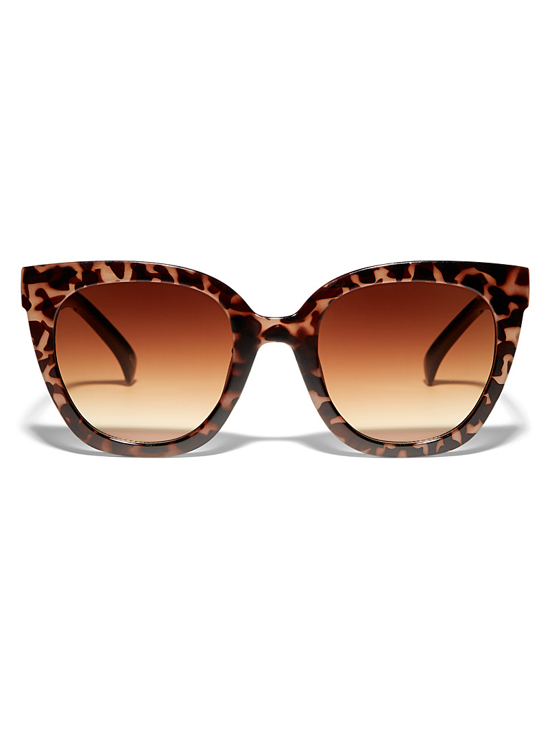 Simons Medium Brown Glam cat-eye sunglasses for women