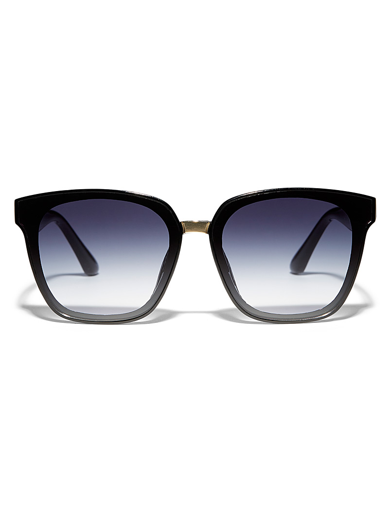 Simons Black Extra lenses square sunglasses for women
