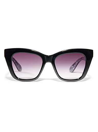 Patterned cat-eye sunglasses