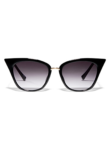Tapered cat-eye sunglasses