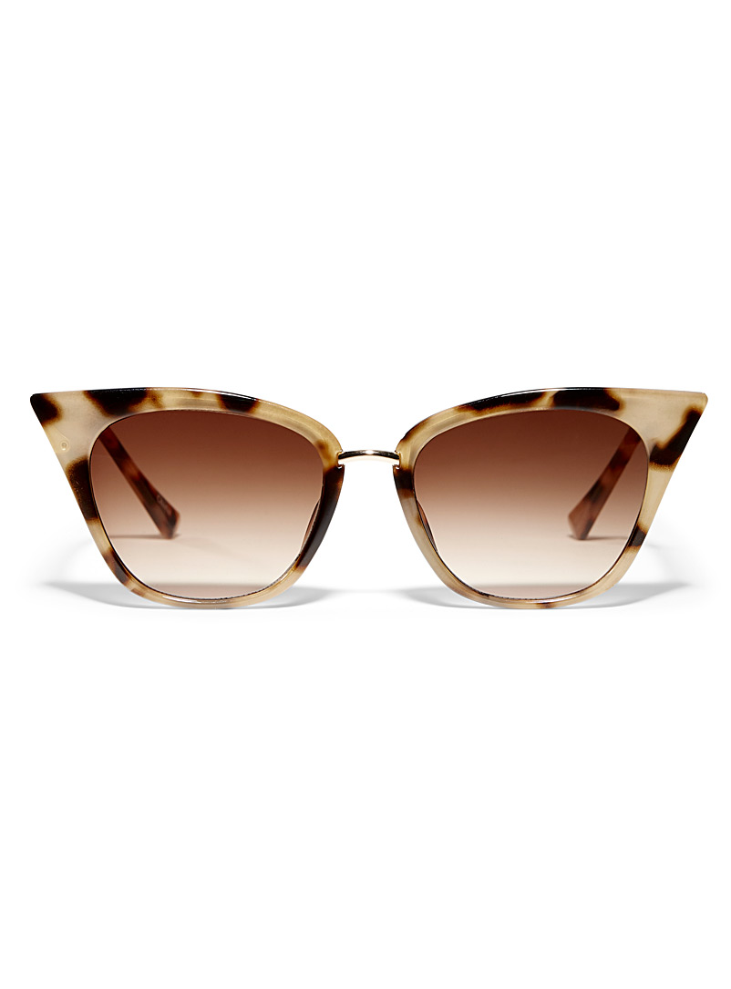 Simons Medium Brown Tapered cat-eye sunglasses for women