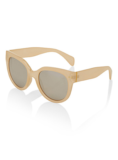 Translucent champagne sunglasses