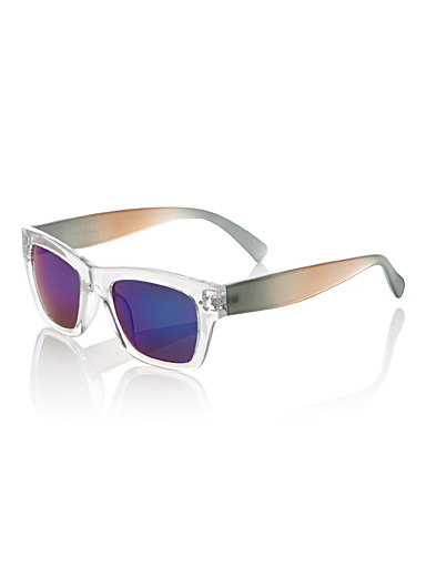 Rectangular mirror sunglasses
