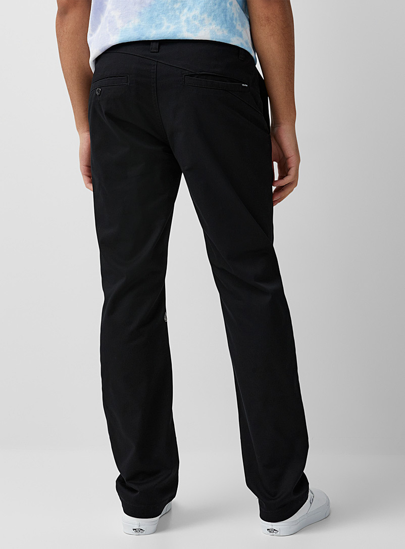 Volcom: Le chino Frickin  Coupe droite Noir pour homme