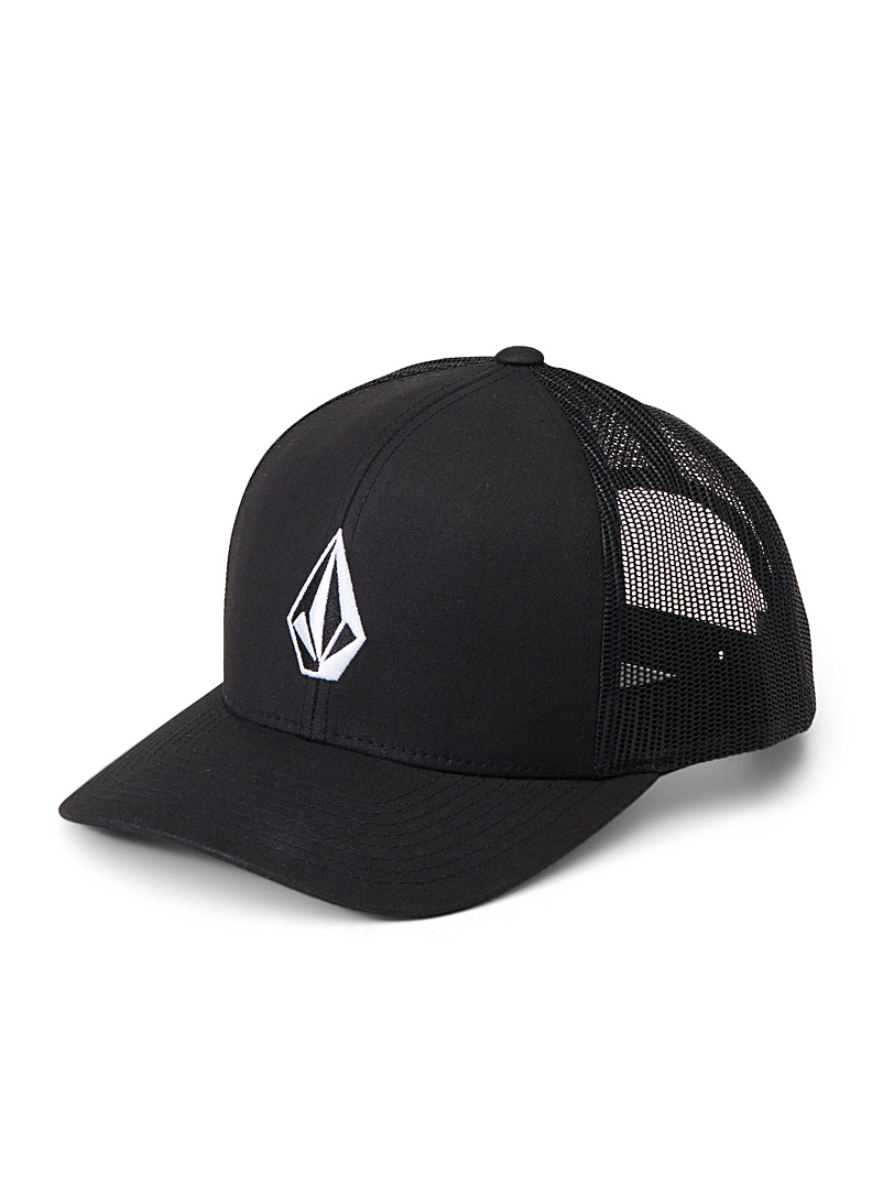 Volcom Black Full Stone Cheese trucker cap for men