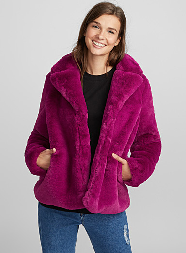 Let's Get Weird fuchsia jacket