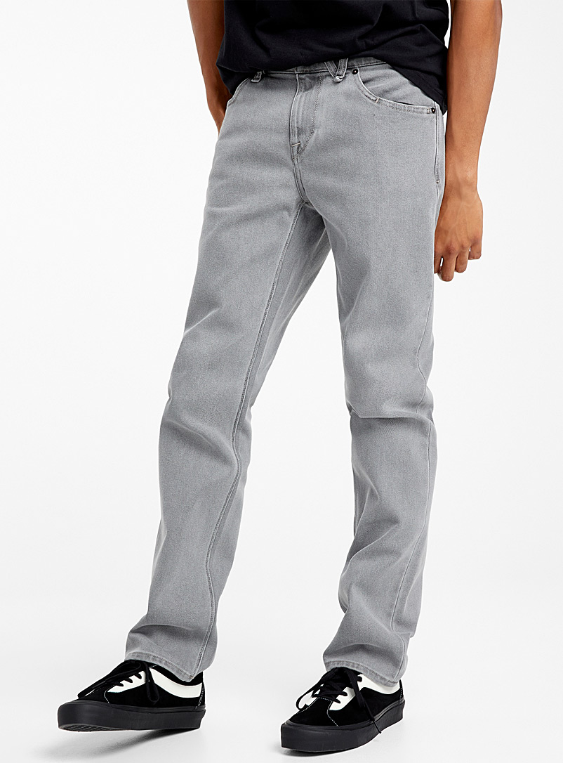 Volcom Grey Acid grey jean  Straight fit for men