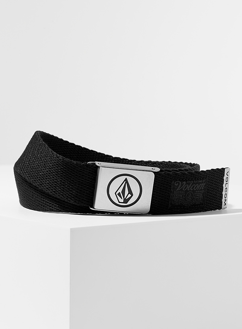 Volcom Black Circle logo woven belt for men