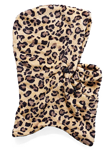 Leopard polar fleece balaclava