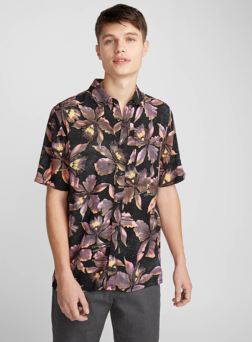 fluorescent-tropical-flower-shirt