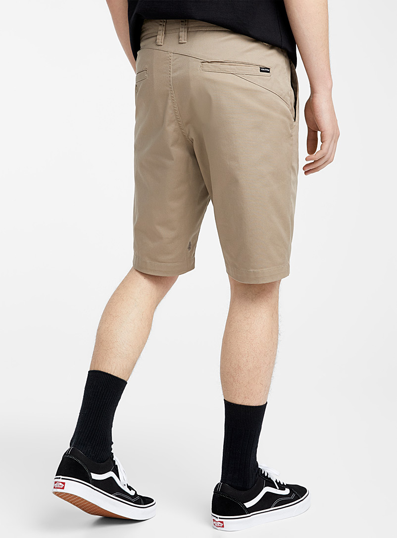 Volcom Black Frikin chino short for men
