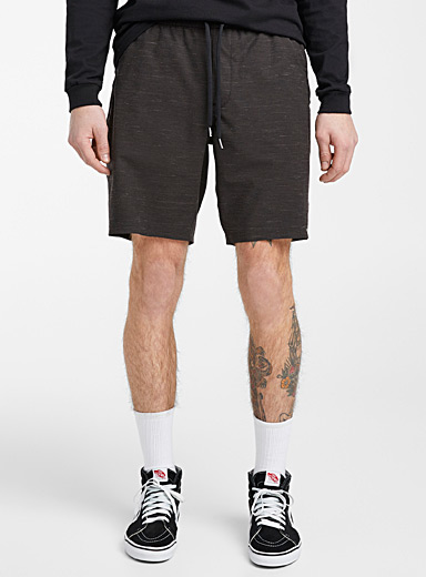 Heathered pull-on short