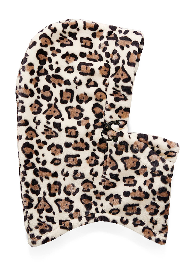 Volcom Patterned Brown Plush balaclava for women