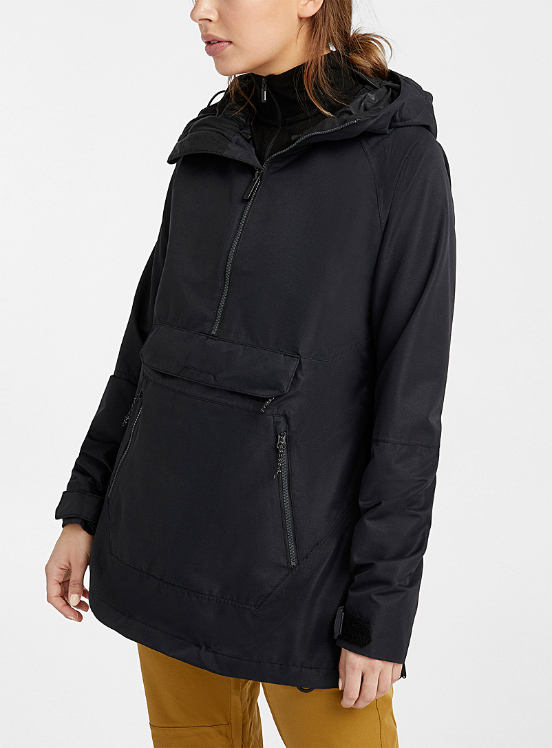 Volcom Black Throwback shell anorak  Relaxed fit for women