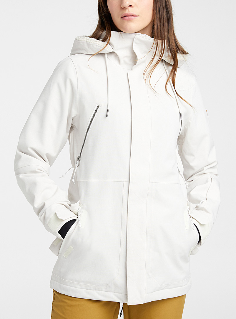 Sherpa-hood coat  Long fit