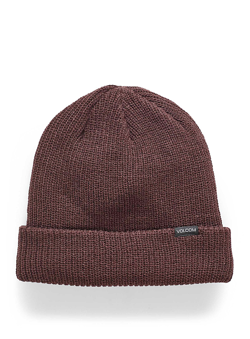Volcom Medium Crimson Ribbed-knit tuque for women