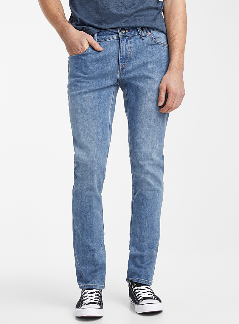 Volcom Blue Old Town faded jean  Skinny fit for men