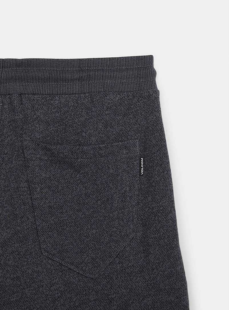 Volcom Black Heathered French terry pull-on short for men
