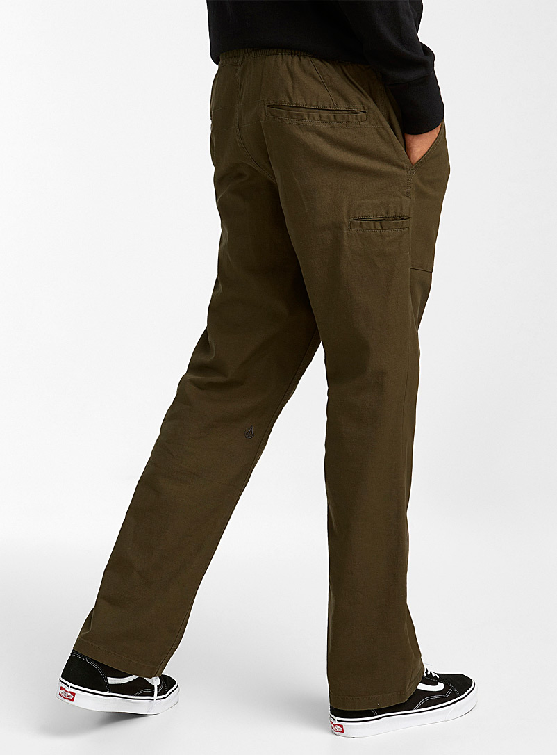Volcom Mossy Green Clockwork relaxed chino Straight fit for men