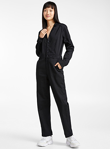 Bowling collar jumpsuit