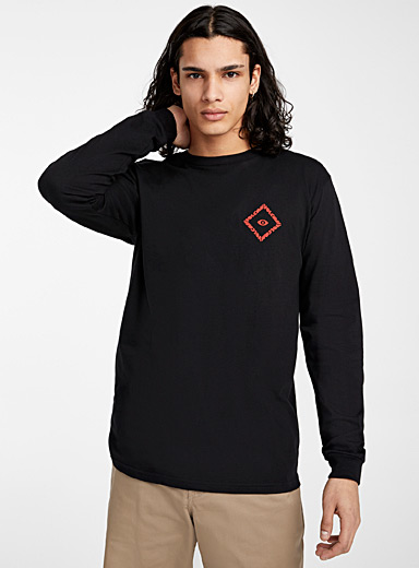 Volcom Black Sacred temple T-shirt for men