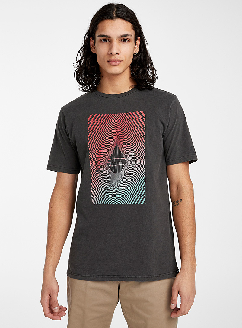 Volcom Black Vibrant logo T-shirt for men