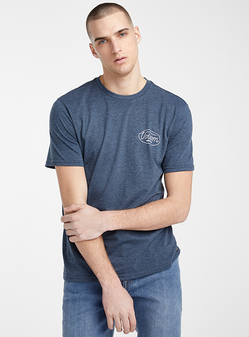 Volcom Marine Blue Billboard logo T-shirt for men