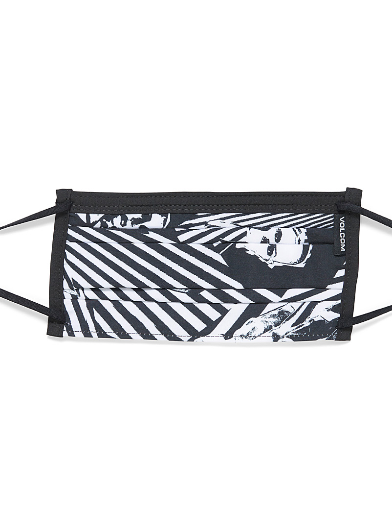 Volcom Black and White Grunge face mask for men
